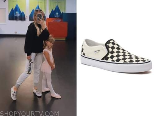 amanda stanton, the bachelor, check slip on sneakers