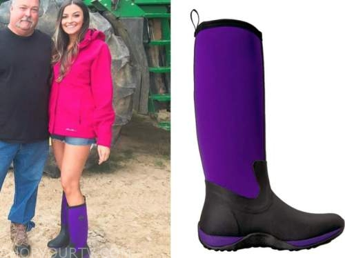 tia booth, the bachelor, purple rain boots