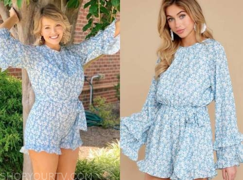 jenna cooper, the bachelor, blue floral romper