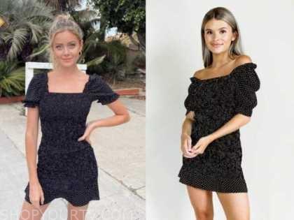 hannah godwin, black dot dress, the bachelor