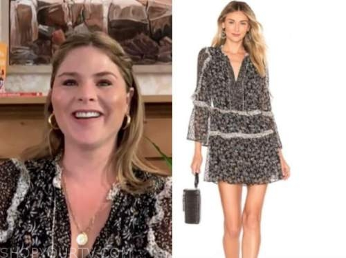 jenna bush hager, the today show, black and white printed dress