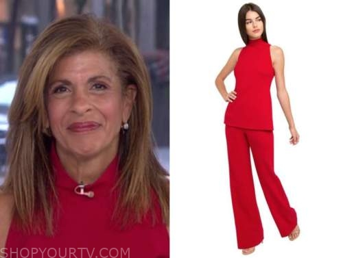 hoda kotb, the today show, red jumpsuit