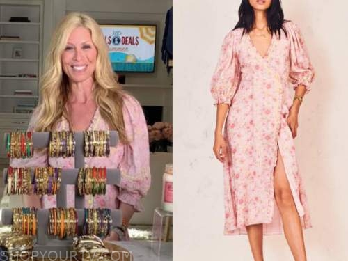 jill martin, the today show, pink floral wrap dress