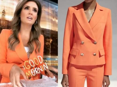 jillian mele, fox and friends, coral orange blazer