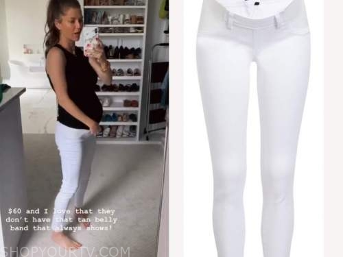 ashlee frazier, the bachelor, white maternity jeans
