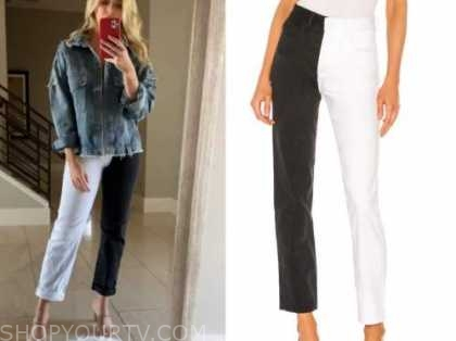haley ferguson, the bachelor, black and white jeans