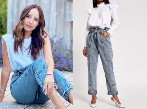 lilliana vazquez, E! news, tie waist jeans