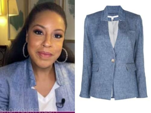 sheinelle jones, the today show, denim blazer