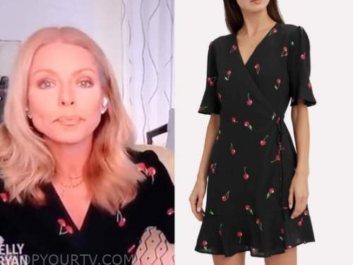 kelly ripa, live with kelly and ryan, cherry print dress