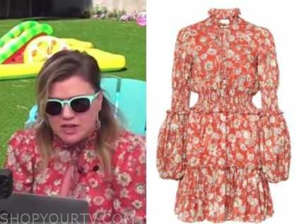 kelly clarkson, the today show, red floral dress