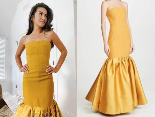 caila quinn, the bachelor, yellow gown