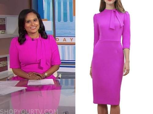 kristen welker, the today show, hot pink dress