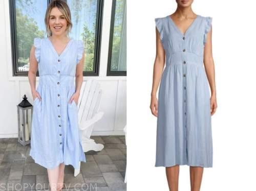 ali fedotowsky, the bachelorette, striped blue dress