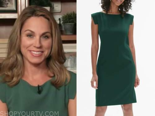 dr. nicole saphier, fox and friends, green sheath dress