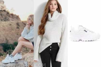 the bachelor, demi burnett, turtleneck sweater, white sneakers