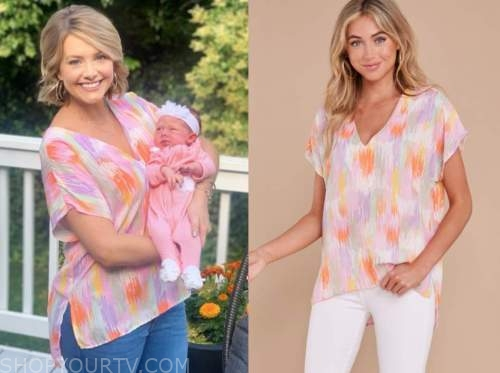 jenna cooper, the bachelor, printed tunic