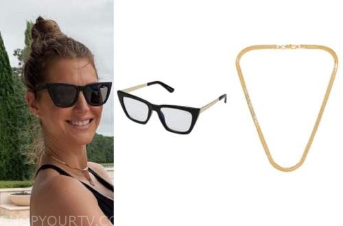 ashlee frazier, the bachelor, black sunglasses, gold choker