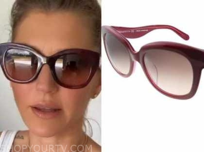 ashlee frazier, the bachelor, burgundy sunglasses