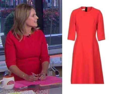 savannah guthrie, the today show, red sheath dress