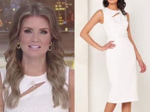 jillian mele, fox and friends, white cutout sheath dress