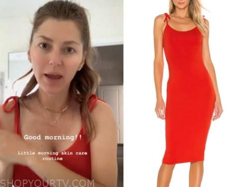 ashlee frazier, the bachelor, red tie strap dress