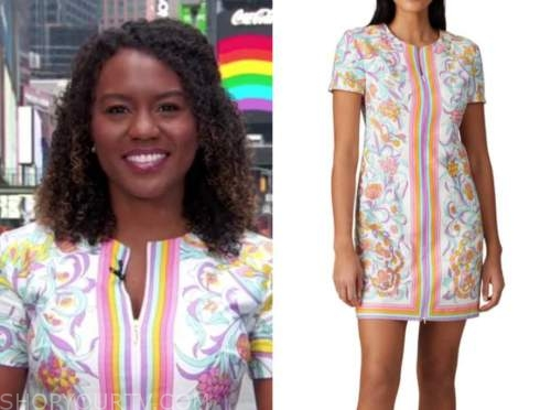 janai norman, good morning america, floral shift dress