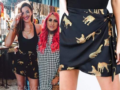 tia booth, the bachelor, black cheetah skirt