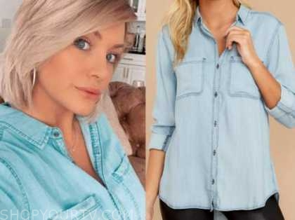 jenna cooper, chambray shirt, the bachelor