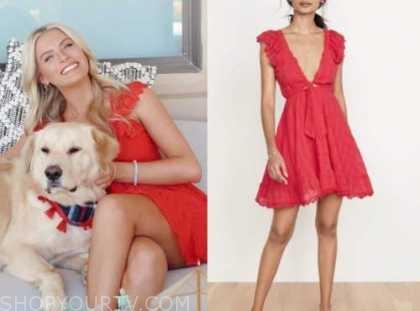 emily ferguson, the bachelor, red dress
