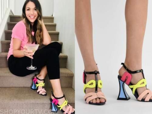 deanna pappas, the bachelorette, colorblock heels
