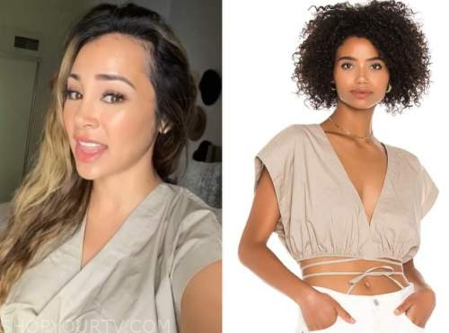 danielle lombard, beige crop top, the bachelor