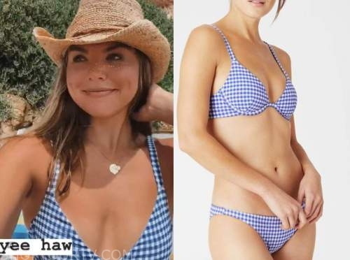 hannah brown, blue gingham bikini, the bachelorette
