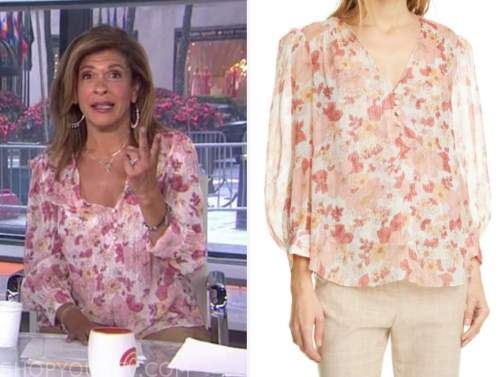 hoda kotb, the today show, floral blouse