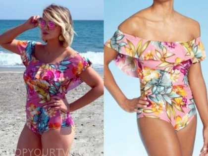 jenna cooper, the bachelor, pink floral one-piece swimsuit