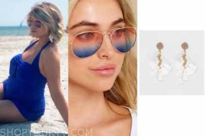 jenna cooper, the bachelor, sunglasses, tassel earrings