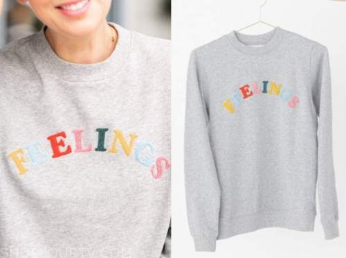 jillian harris, the bachelorette, grey sweatshirt