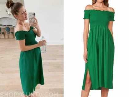 ashlee frazier, the bachelor, green midi dress