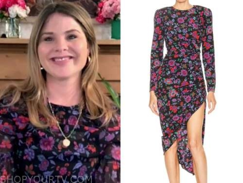jenna bush hager, the today show, floral dress