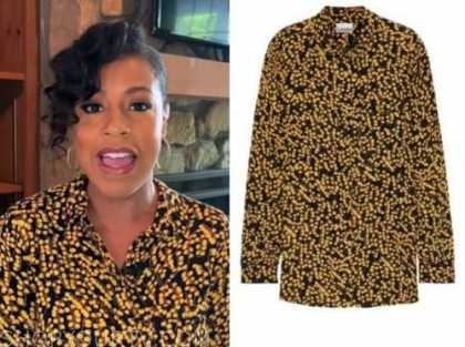 the today show, sheinelle jones, yellow printed blouse