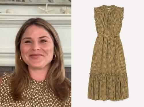 jenna bush hager, the today show, green polka dot dress