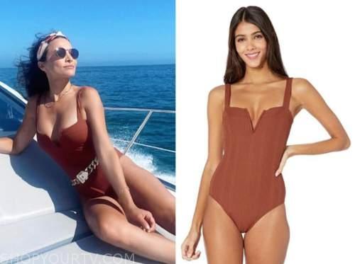 andi dorfman, the bachelorette, brown swimsuit