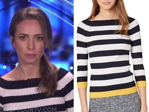 jedediah bila, fox and friends, striped knit top