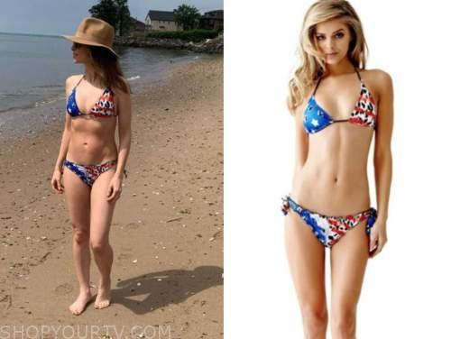 jedediah bila, fox and friends, american flag bikini