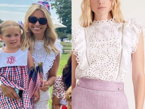 ainsley earhardt, fox and friends, white eyelet top