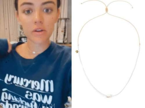 Lucy hale, pearl choker necklace