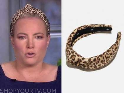 meghan mccain, the view, leopard knot headband