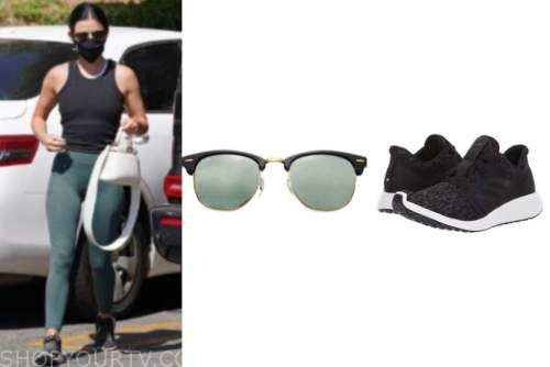 lucy hale, black sneakers, sunglasses