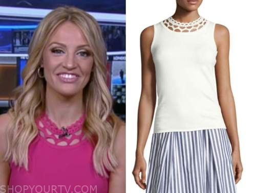 carley shimkus, fox and friends, knit cutout top