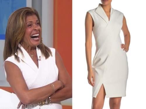 hoda kotb, the today show, white sheath dress