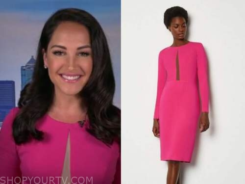 emily compagno, hot pink dress, fox and friends